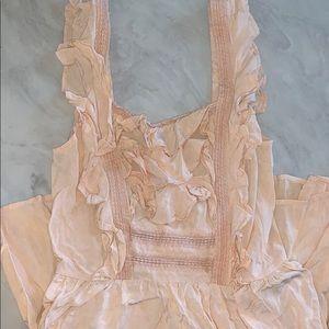 Ruffle trim Dress in soft peach 🍑